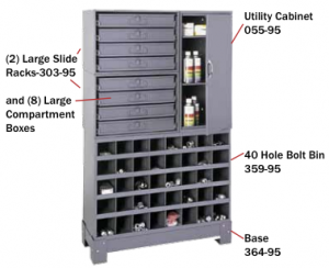 Storage cabinets for secure modular material handling